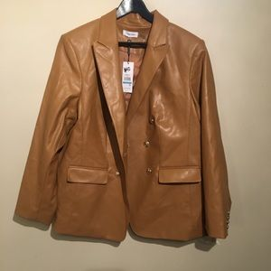 Calvin Klein Leather look jacket